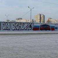 Активисты ОНФ написали на заборе в Омске о важности выборов президента