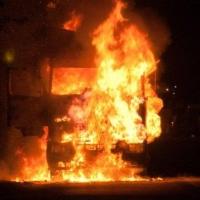 В Омске мужчина сгорел в кабине своей фуры