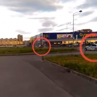 «Лэнд Крузер» устроил гонку с экипажем ДПС в Омске