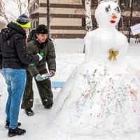 В Омске прошел первый фестиваль снеговиков
