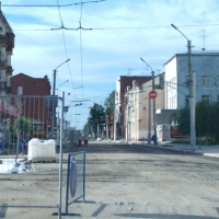 Для омичей сделали безопасный пешеходный переход на улице Ленина