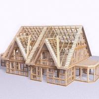 Как собирают деревянные каркасные дома
