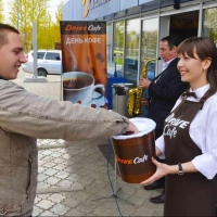 На омских АЗС автолюбителей заправляют кофе Drive Cafe