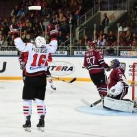 Омский «Авангард» победил на рижском льду со счетом 1:2