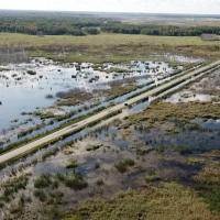 Подтопленные территории Омской области посмотрели с квадрокоптера