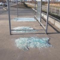 На остановках у парка Победы выпали стекла