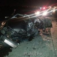 Под Омском в лобовом ДТП погиб водитель Лады Приоры