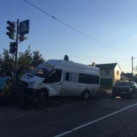 В Омске в ДТП с участием маршрутки пострадал годовалый мальчик