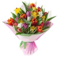 Формирование красивых букетов цветов