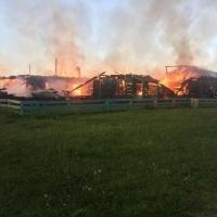 В Омской области сгорели библиотека и клуб