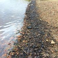 На берегу Иртыша омичи заметили почерневшие камни