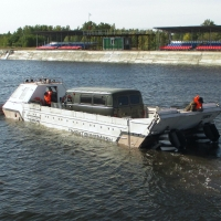 Омсктрансмаш забрендировал плавающий транспортер как «ковчег»