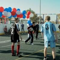 В рамках программы «Газпром - детям» в Омской области открыли еще три спортивные площадки