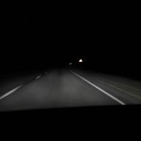 Омские автомобилисты жалуются на плохое освещение Русско-Полянского тракта