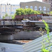 На Юбилейном мосту в Омске приступают к установке нового центрального пролета