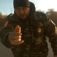 В Омске смотрящий за дорожной камерой казак атаковал Lexus