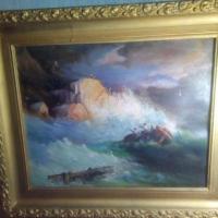 Омич продает картину в стиле Айвазовского за 1 млн рублей