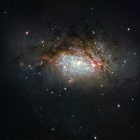 Рождение гигантской галактики поймал телескоп «Хаббл»