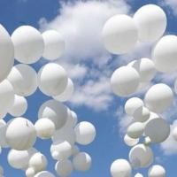 В память о жертвах пожара в Кемерове омичи выпустили в небо белые шары