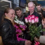 """В Омск вернулась """"бронзовая"""" призёрка Олимпиады Ольга Граф"""