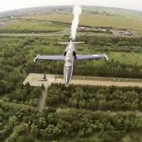 Опубликовано видео авиашоу в Омске, снятое с самолетов