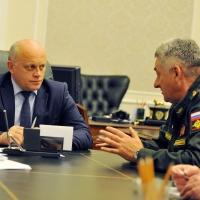 Назаров и Зарудницкий обсудили итоги военных учений в Омске