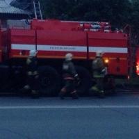 В Омске ночью загорелась «Лента»