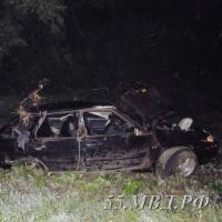 Под Омском ВАЗ улетел в кювет, водитель погиб