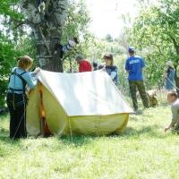 Как правильно установить палатку?