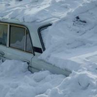 Угонщики на «семерке» попали в снежную ловушку