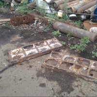 Под Омском из брошенной пекарни воры вывезли 3 тонны чугуна