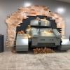 В омском метро танк пробил стену