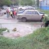 В Омске напротив Первомайского рынка разлилось озеро