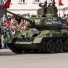 В День Победы по омской площади проехал танк Т-34