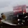 На пожарном биатлоне от спасателей сбежал рукав