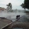 В Омске возле СибАДИ бьет фонтан с кипятком (видео)