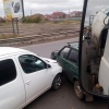 В Омске на улице Дергачева столкнулись две легковушки