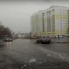 После дождей в Омске затапливает улицу Малиновского