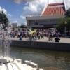 На Театральной площади в Омске завершили первый этап ремонта