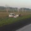 Пьяная и без прав автоледи улетела в кювет в Омской области