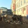 В Омске на Маркса проезд во дворе перегородила помойка