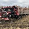 На трассе в Омской области произошло тройное ДТП с большегрузами
