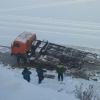 В Омской области «КамАЗ» провалился в реку Омь