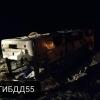 В Омской области в перевернутом автобусе пострадало 4 пассажира