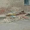 На одном из омских домов зафиксировали обрушение кирпичной кладки