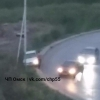 В Омске легковая машина врезалась в столб