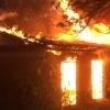 В Омской области вместе с домом сгорел его хозяин