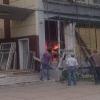 В Омске горел мусор в одном из корпусов ОмГТУ (фото)