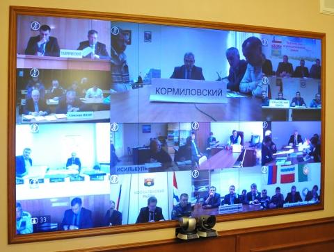 Видеоконференция с главами районов