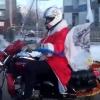 В Омске появился Дед Мороз-байкер
